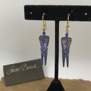 Vintage Laurel Burch Flowering Woman Earrings